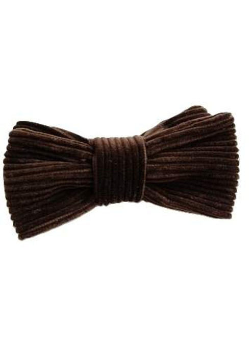Brown corduroy bow tie