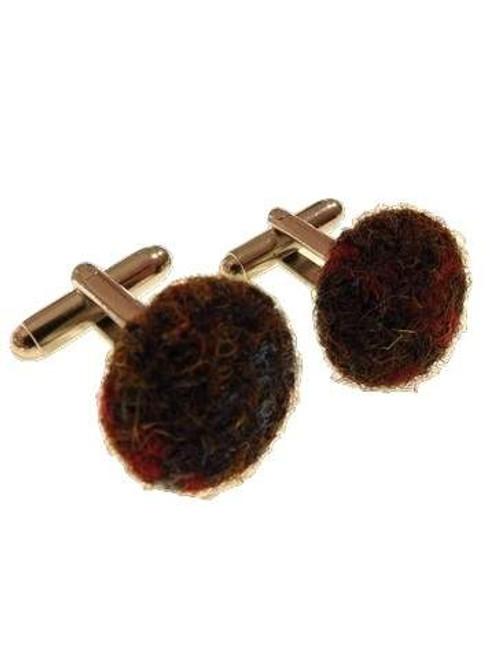 Harris Tweed cufflinks