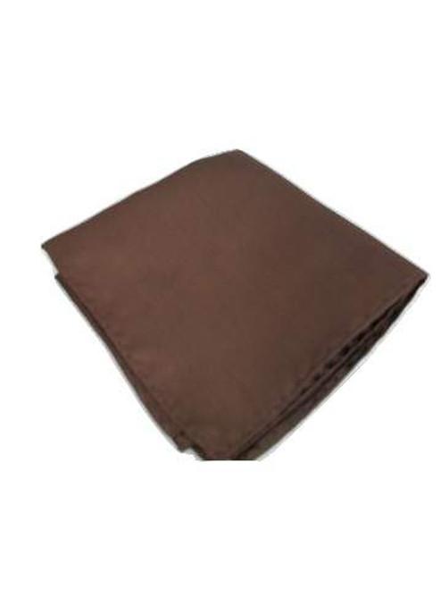 Dark brown pocket square