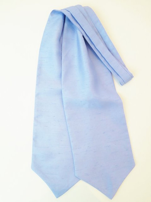 Blue shantung wedding cravat