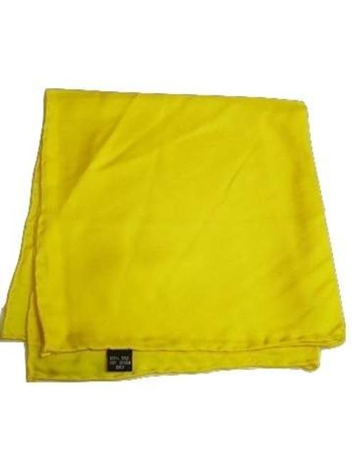 Bright yellow silk handkerchief