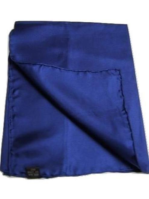 Dark blue silk handkerchief
