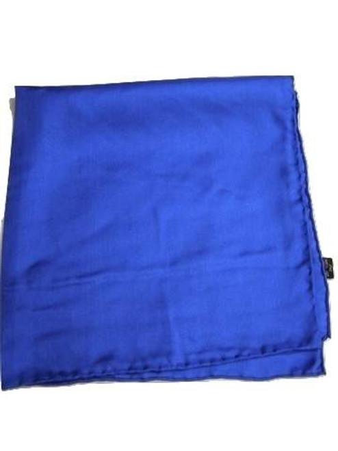 Royal Blue Silk Handkerchief