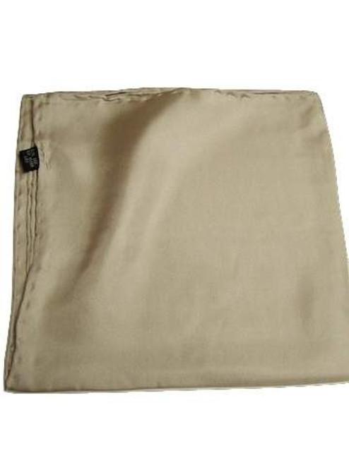 Silver grey silk handkerchief