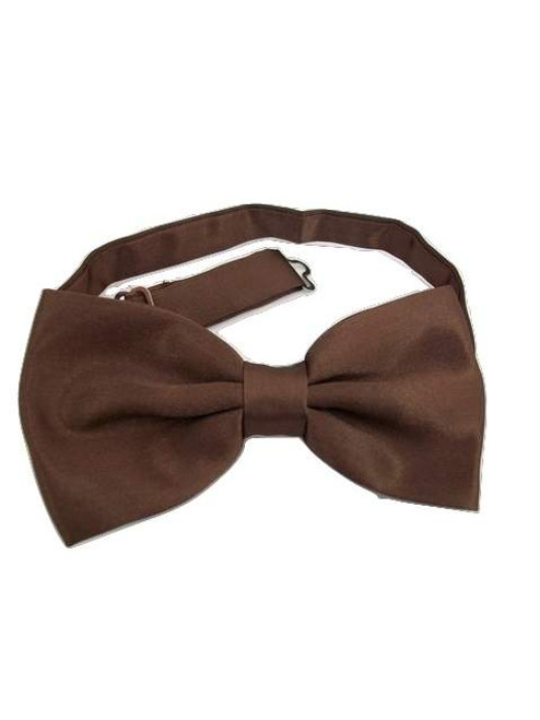 Dark brown bow tie