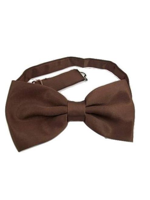 Dark brown bow tie