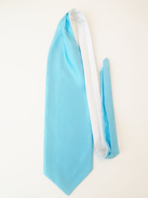 Vibrant blue wedding cravat