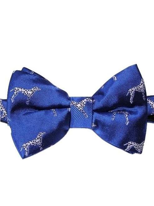 Dog themed mens silk bow tie