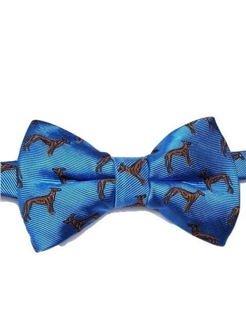 Dog themed silk bow tie
