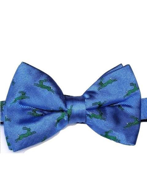 Wildlife themed silk bow tie