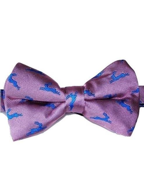 Wildlife themed silk bow tie