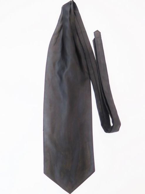 Black satin wedding cravat