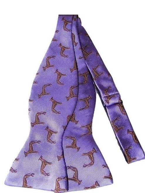 Dog themed mens silk bow tie