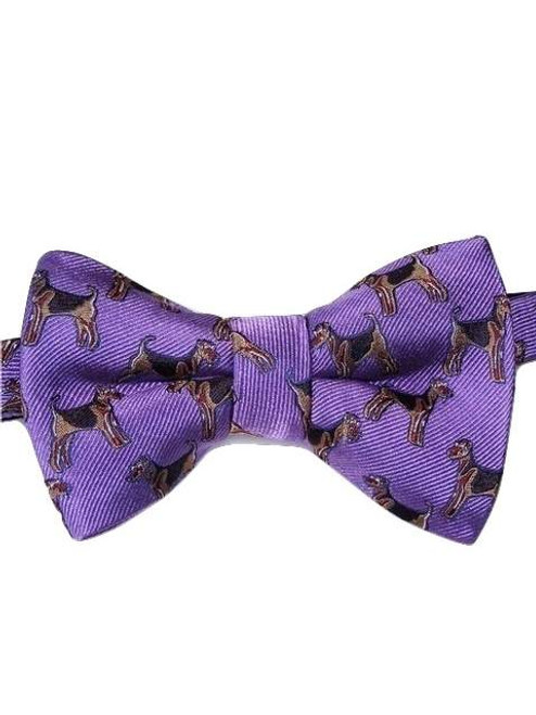 Dog themed silk bow tie