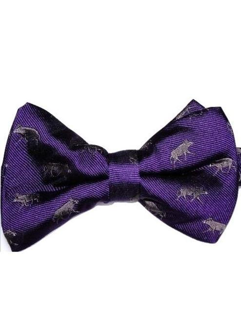 Boar themed bow tie