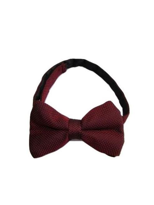 Wine silk bow tie