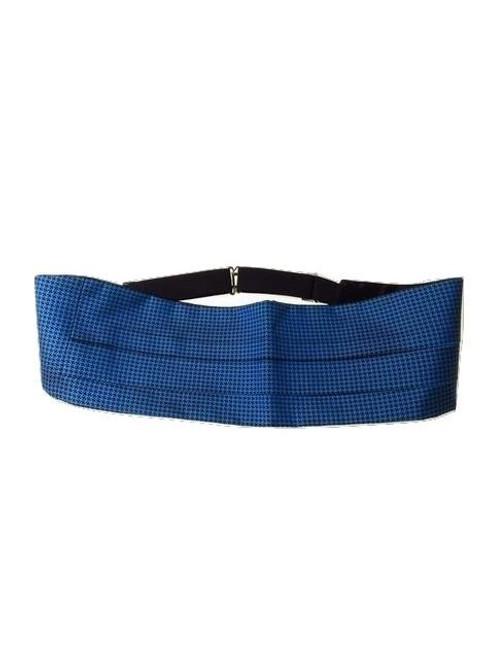 Blue silk cummerbund