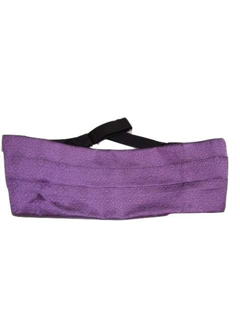 Purple silk cummerbund