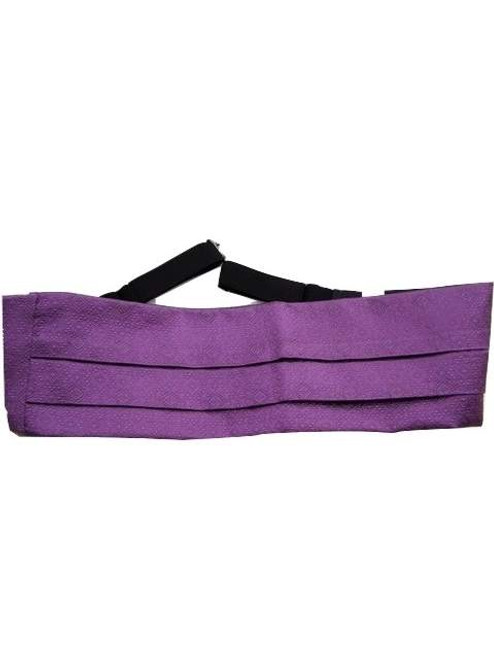 Silk cummerbund purple