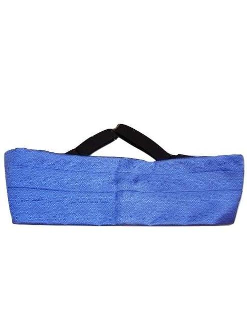 Silk cummerbund blue