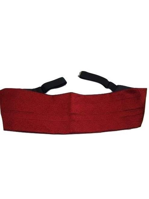 Red silk cummerbund