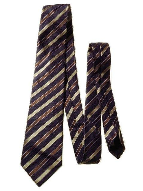 Mens striped silk tie