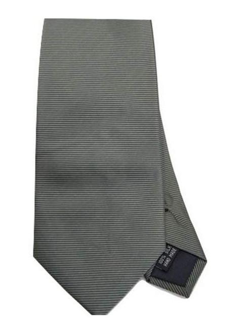 Khaki green silk tie