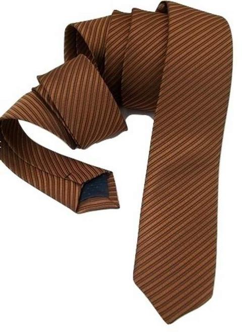 Brown skinny tie