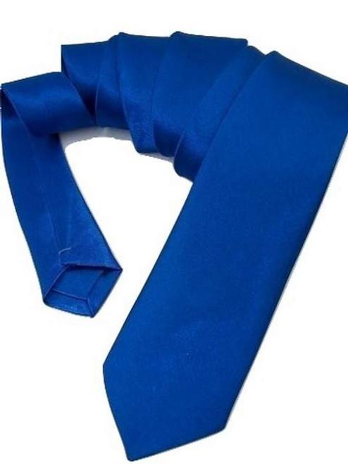 Royal blue skinny tie