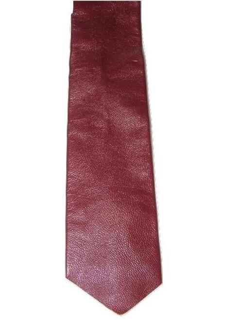 Burgundy leather tie