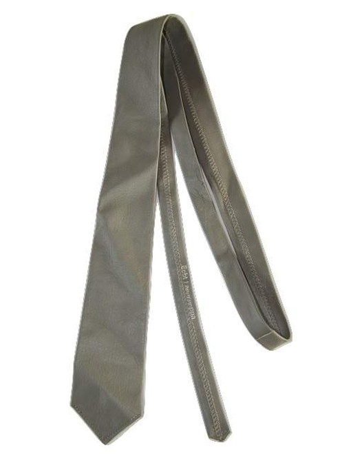 Mens grey leather tie
