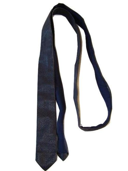 Embossed leather tie