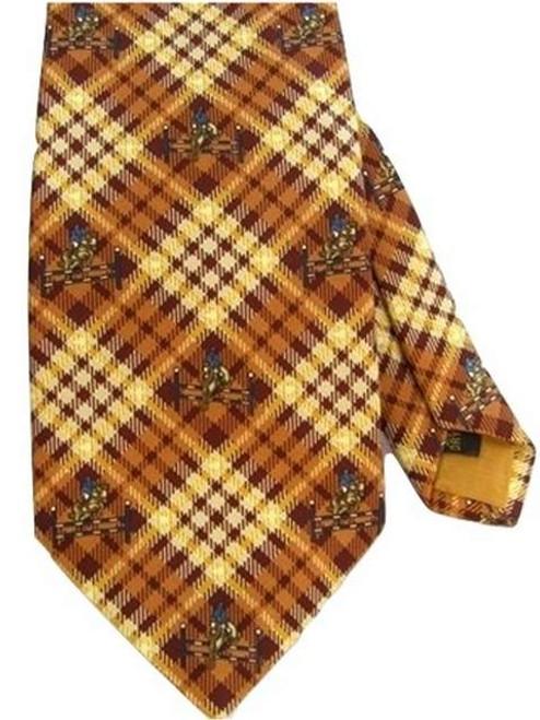 Silk equestrian theme tie