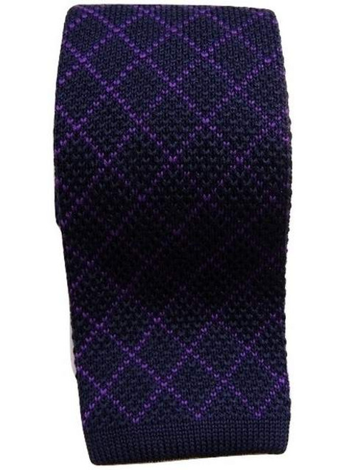 Men's wool knit tie