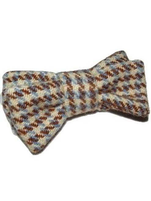 Handmade Harris Tweed Bow Tie and Braces Purple//Pink herringbone