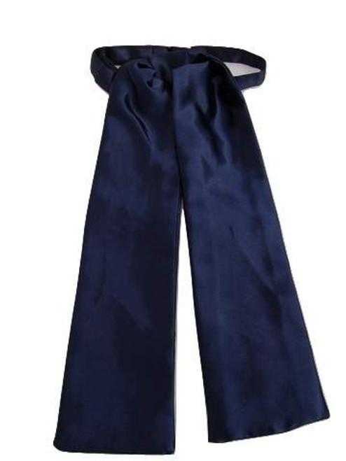 Navy blue wedding cravat