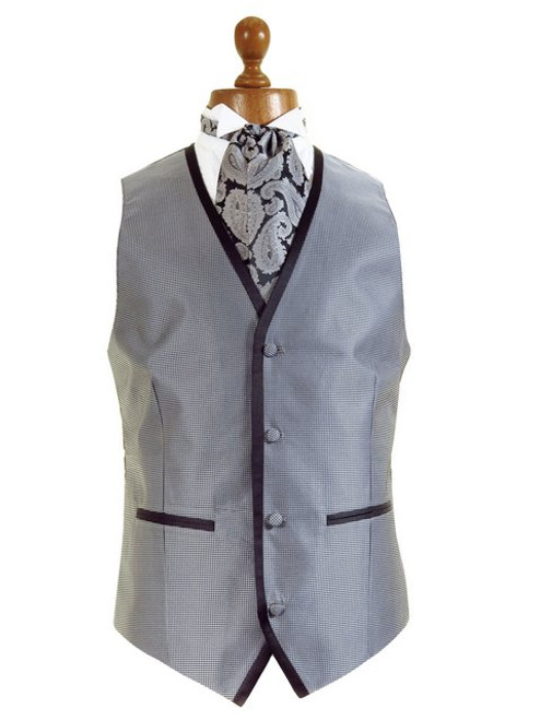 Wedding waistcoat silver black