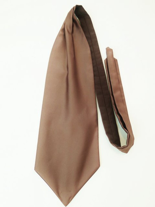Brown wedding cravat