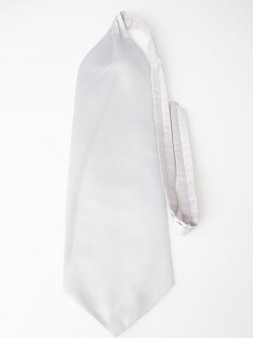 Light silver grey wedding cravat