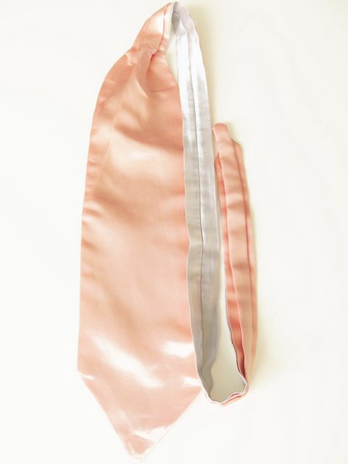 Peach silver wedding cravat