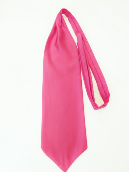 Fuchsia pink wedding cravat