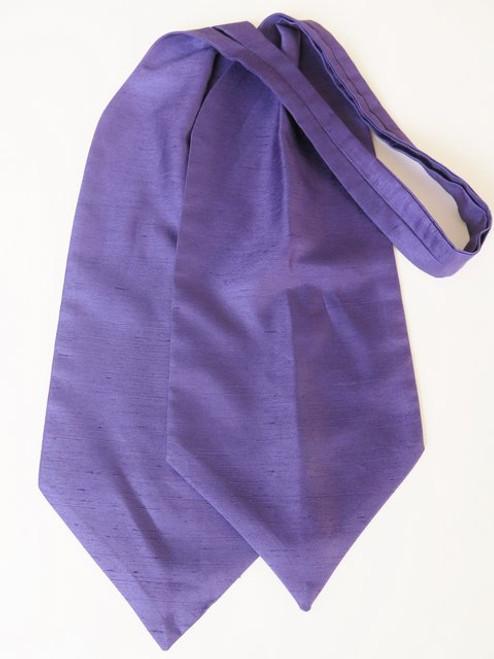 Purple wedding cravat