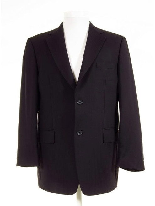 Navy blue lounge suit jacket