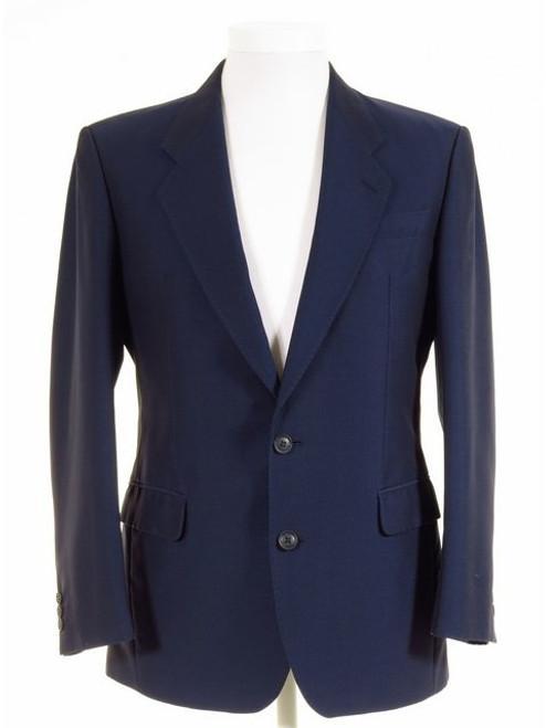 Blue mohair tonic suit jacket