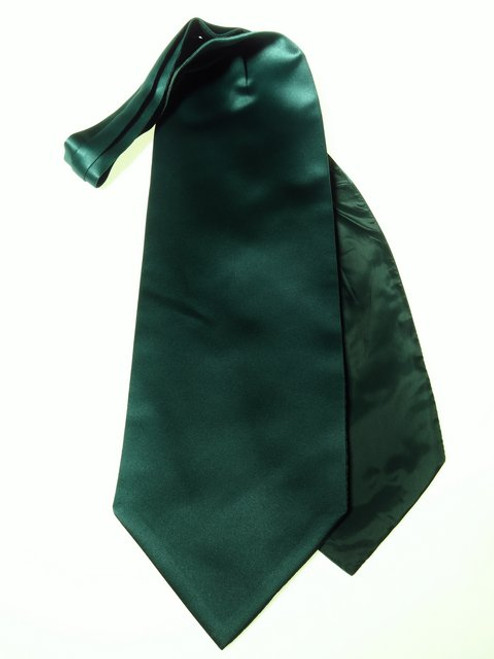Dark green wedding cravat