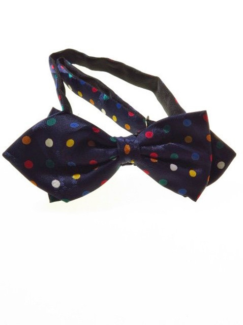 Large spots diamond point bow tie