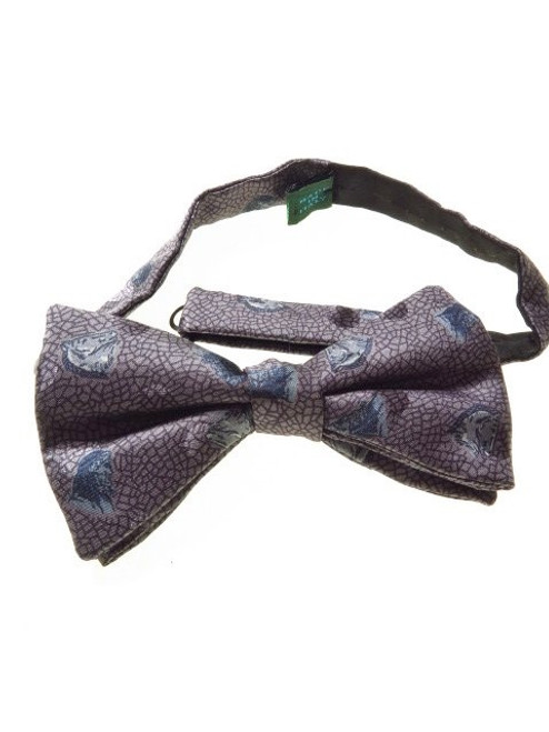 Self-tie silk bow tie horse themed
