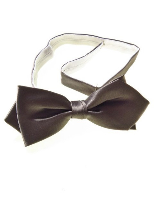 Silver diamond tip bow tie