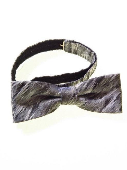 Silver grey metallic bow tie