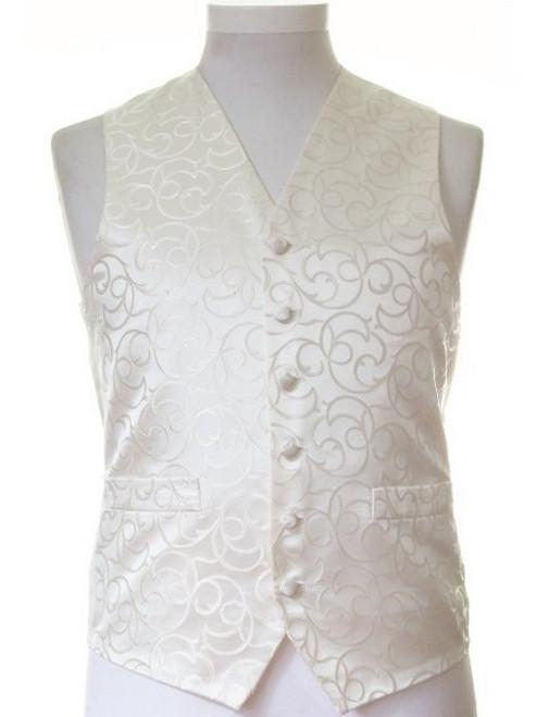 Ivory swirl wedding waistcoat